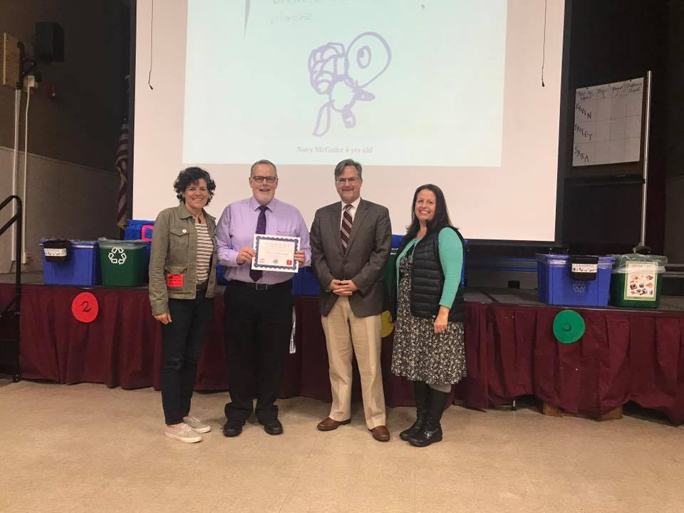 Edison wins an award from the Plastic Pollution Coalition.