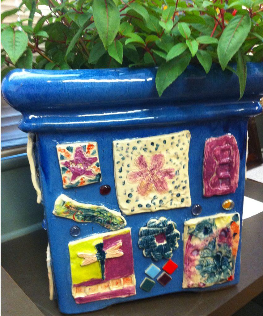 """""""Whimsical Ceramic Planter"""" Ms. Ingram's Class 2nd Grade"""