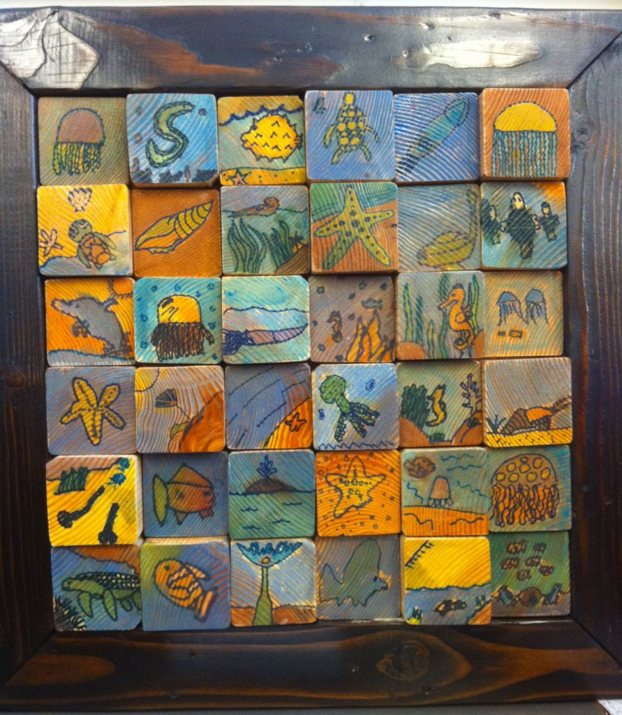 """""""Schroeder's Sea"""" Ms. Schroeder's Class  5th Grade"""