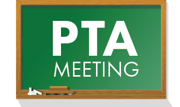 PTA Meeting chalkboard