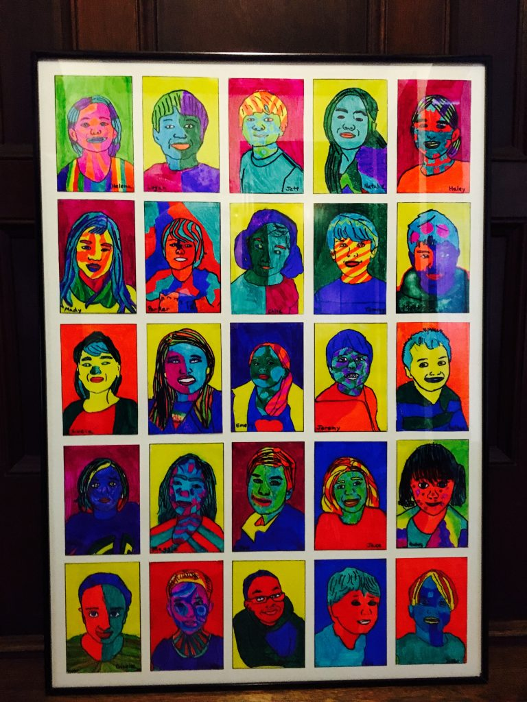 Pop Art Portraits - Ms. Hinds - 2nd Grade