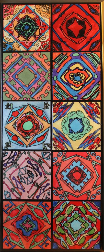 """Name Kaleidoscopes #2""  Ms. Duncan/Ms. Struve--4th Grade"