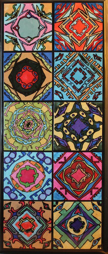 """Name Kaleidoscopes #3"" Ms. Duncan/Ms. Struve--4th Grade"