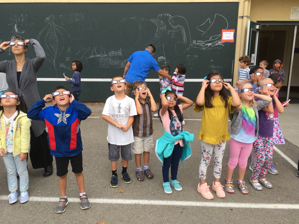 Students experience the 2017 Solar Eclipse on the First Day of School!